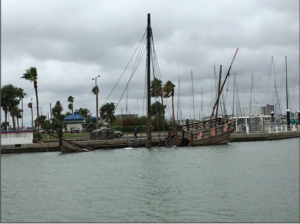 Replica of Christopher Columbus' Nina destroyed during Hurricane Harvey